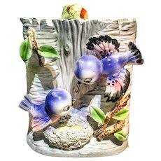 Lefton Purple Bluebirds Cookie Jar.
