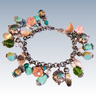 Vintage Colourful Charm bracelet