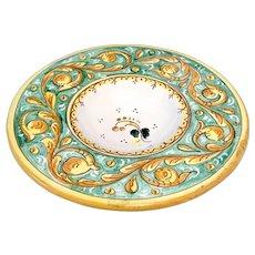 Vintage Italian Handpainted Deruta lemon design dish