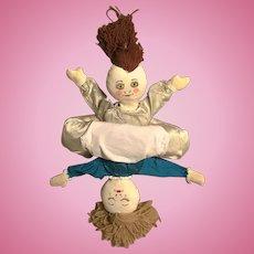 Vintage Happy and Sad Topsy Turvy Doll