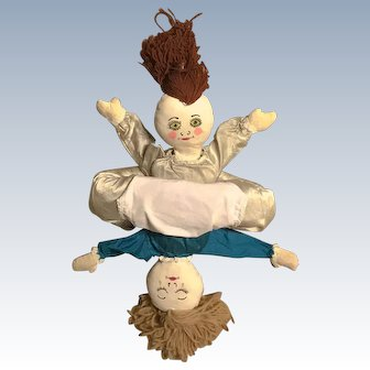 Vintage Happy and Sad Topsy Turvy Doll