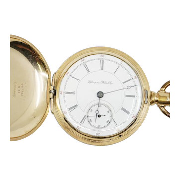 14k Gold-Filled, 16 size Hampden Pocket Watch