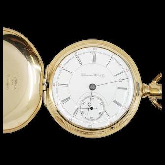 14k, 16 size Hampden Pocket Watch