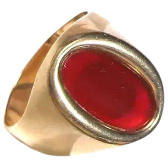 Vintage 9k Carnelian Ring