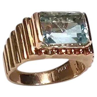 Vintage Aquamarine 14k Gold Ring