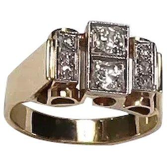 Vintage Retro/Deco Styled Diamond Ring