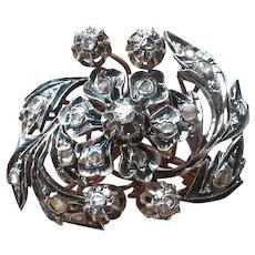 Vintage Antique Silver Diamond Brooch Pin