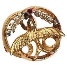 Vintage Dove Peace Pin/Brooch
