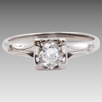 Beautiful Vintage Engagement Ring From A Beautiful Person   7932