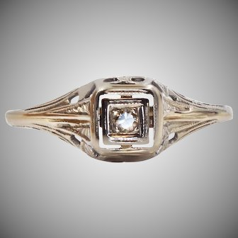 A Vintage Diamond Engagement Ring with an Artistic Story | 933