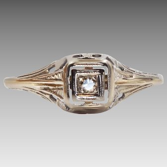 A Vintage Diamond Engagement Ring with an Artistic Story   933