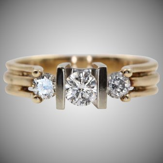 Vintage Diamond Ring with Three Diamonds and a Lovely Story | U1765