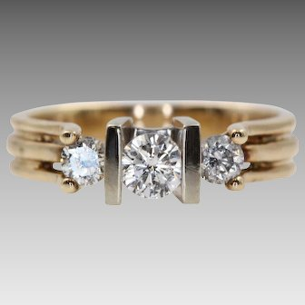 Vintage Diamond Ring with Three Diamonds and a Lovely Story   U1765
