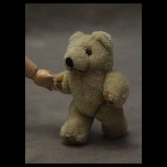 Small Vintage Teddy Bear Fully Jointed 5""