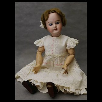 Bisque Head Doll  Limoges FRANCE J.B. 22 inches