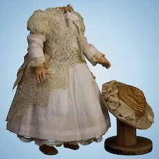 French dress and straw hat  for doll 12""