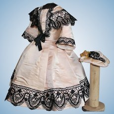 Beautiful dress and hat  for  Fashion doll  15-16 inches