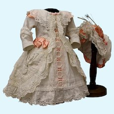 French dress and hat for doll 22-23""