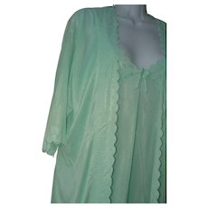 Minty Green Gown Set Nightgown Robe - Red Tag Sale Item