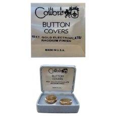 Colibri Button Cuff Covers 18K Gold Plated USA