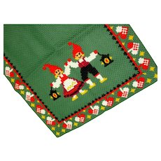 Christmas Elf Table Runner Scandinavian Nordic Folk Art