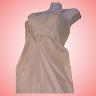 Full Slip Nylon Cream Lace Vintage Adonna USA