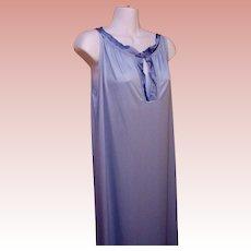 Long Nightgown Blue Nylon Gossard USA