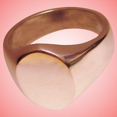 Classic Signet Ring Solid 925 Sterling Silver Unisex  Mexico