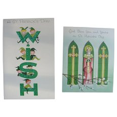 St Patrick's Day Greeting Card LOT Stanley Art Unused Uncirculated