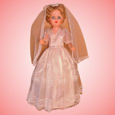 Betty the Bride Grocery Store Doll 24 Inch Circa 1958