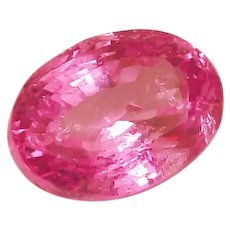 Pink Sapphire GIA Certified LOOSE Oval 1.78 Carats