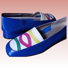 Flat Slides Skimmer Leather Shoes CALIFORNIA Magdesians Size 10 N Narrow 1970's Era USA