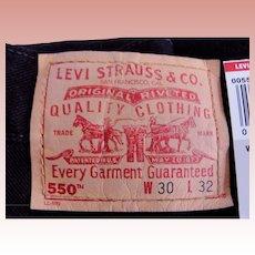 VTG 1985 Levi's 550 Men Jeans Pants Jet Black Wash 30x32 USA