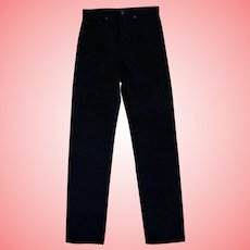 Deadstock 505 Levi's Men Jeans Pants Black 32x36 Regular Fit Straight Made in USA