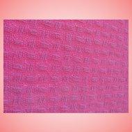 ESTATE Blanket Pink 100% Cotton Basket Weave Pattern Twin Single Size JC Penney Home