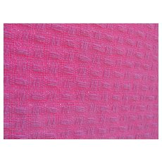 ESTATE Blanket Pink 100% Cotton Basket Weave Pattern Twin Single Size JC Penney Home