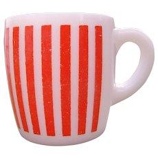 Orange Stripe Hazel Atlas Mug Coffee Cup