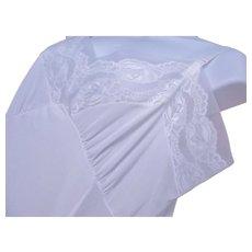 Full Slip White Nylon Lace Plus Sz 44 STENSWEAR 1950