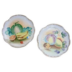Handpainted Fruit Plates Wall Decor SET