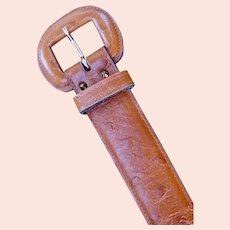Designer Exotic Leather Belt Anne Klein for Calderon