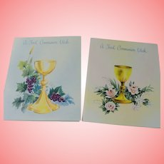 Greeting Cards Religious Theme Golden Chalice Communion Stanley Art Guild Uncirculated Unused