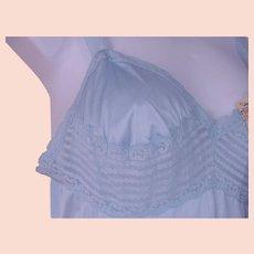 c141eb65b NOS Vassarette Long Slip Nightgown Blue Nylon Lace Trim Size 34 USA NWT.  Chantilly Vintage