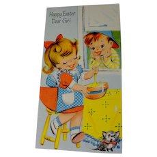 1945 Charm Craft Vintage Greeting Card Easter Unused Uncirculated