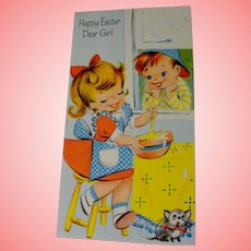 1945 Charm Craft Vintage Greeting Card Easter Unused Uncirculated