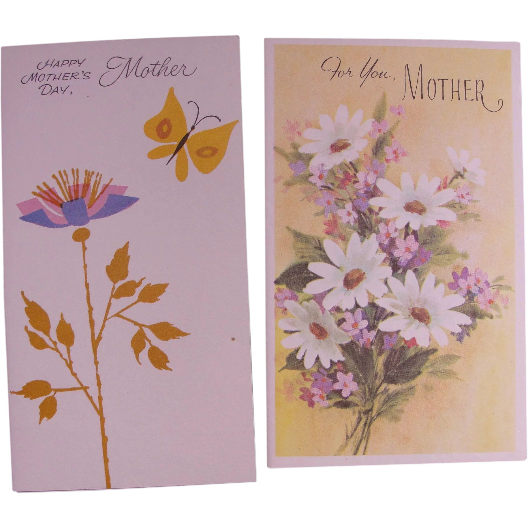 Vintage Greeting Cards Mothers Day Unused Uncirculated Chantilly