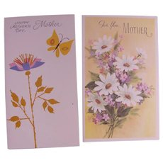Vintage Greeting Cards Mothers Day Unused Uncirculated