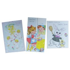 Vintage Greeting Cards Easter Theme Unused Uncirculated