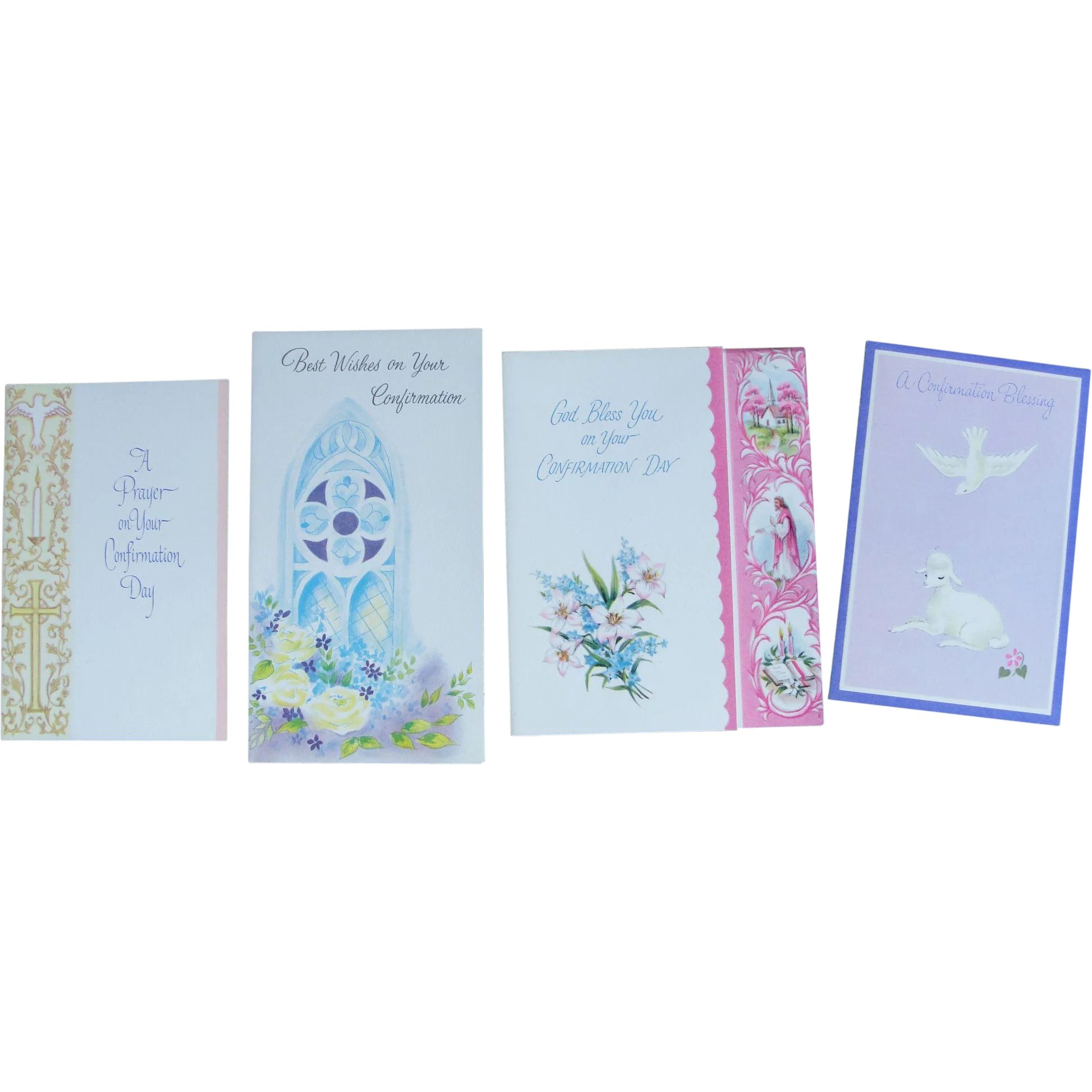 Vintage Greeting Cards Religious Theme Unused Uncirculated