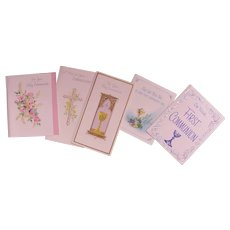 Vintage Greeting Cards Religious Theme Unused Uncirculated Holy Communion Gothic New Old Stock