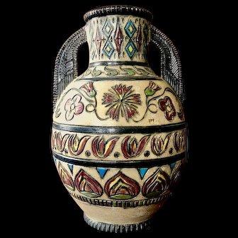 20th Century Ceramic Belgian Vase designed by Losson